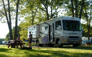 motorhome traveling RV Resorts